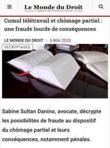 Publication  : Le Monde du Droit